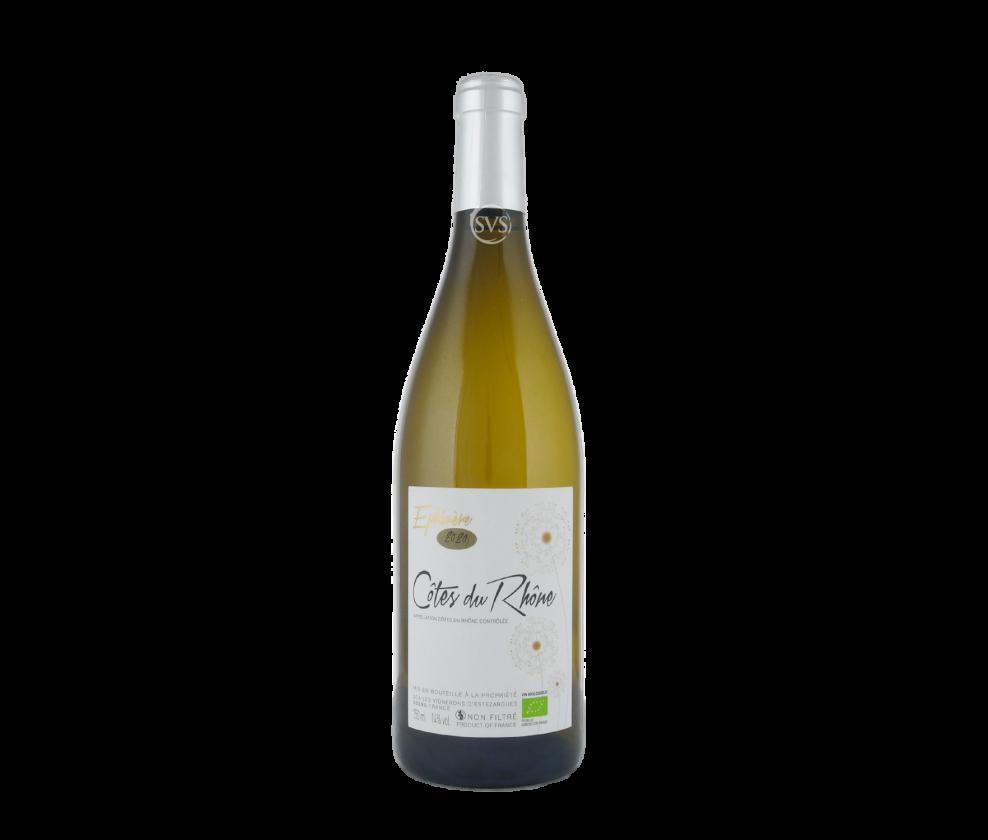 Les Vignerons d'Estezargues, Cotes du Rhone Blanc, Ephemere, 2020